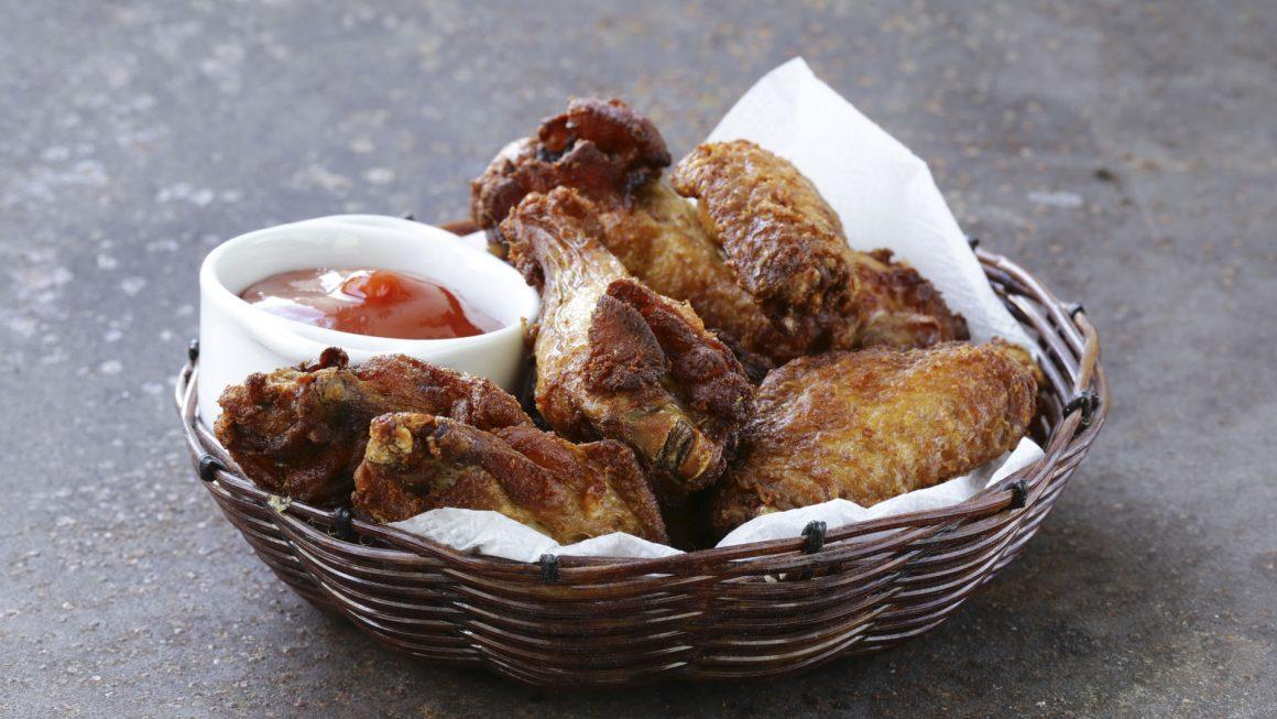 Pollo frito con vegetales